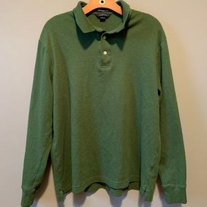 Lands' End Solid Green Long Sleeve